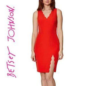 NWT Beautiful BETSEY JOHNSON Scallop Midi Dress
